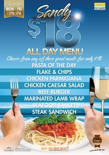 $18 All Day Menu