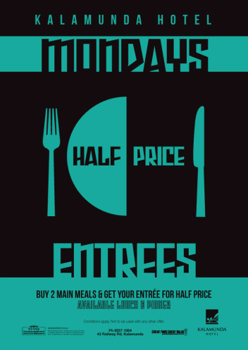 Mondays – Half Price Entrees