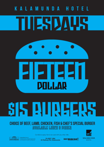 Tuesdays - $15 Burgers