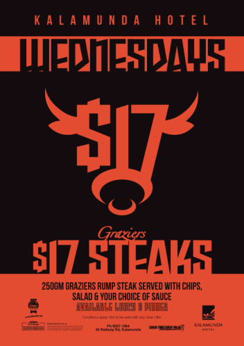 Wednesdays - $17 Steaks