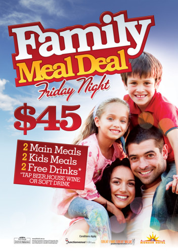 Family $45 meal deal