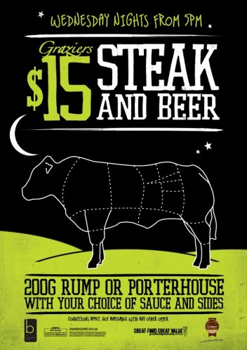 Steak & Beer Wednesdays