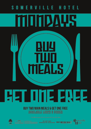 Monday Buy One, Get One Free