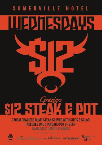Wednesday $12 Graziers Steak & Pot