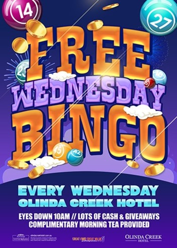 Wednesday Free Bingo