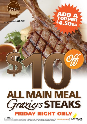 Friday $10 Off Steaks