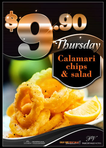 Mon, Tues & Thurs $9.90 Meal Deals