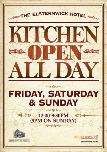 Kitchen open all day