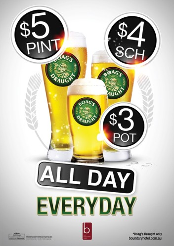 Boag's Draught All Day Every Day