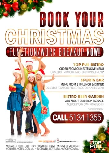 Book Your Christmas Function Now!