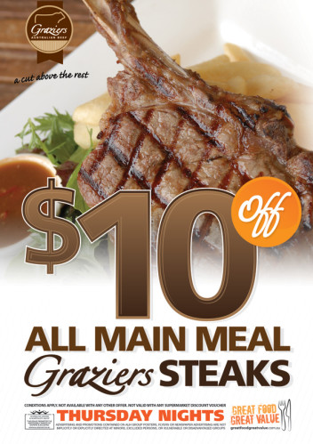 Thursdays - $10 Off Steak Special