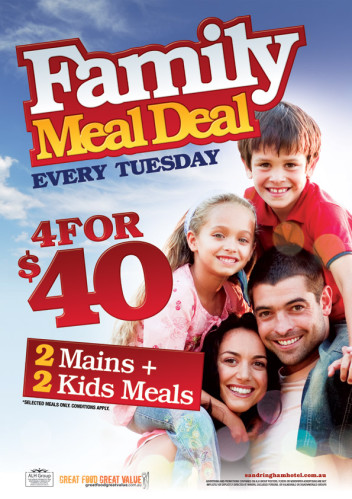  Tuesday Family Meal Deal 4 For $40