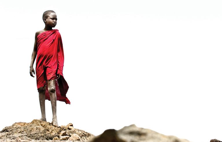 El Molo Boy in Red