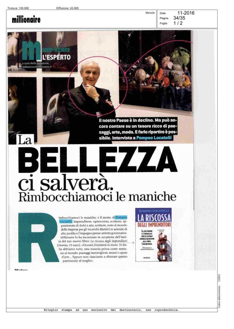 Millionaire - Intervista a Pompeo Locatelli