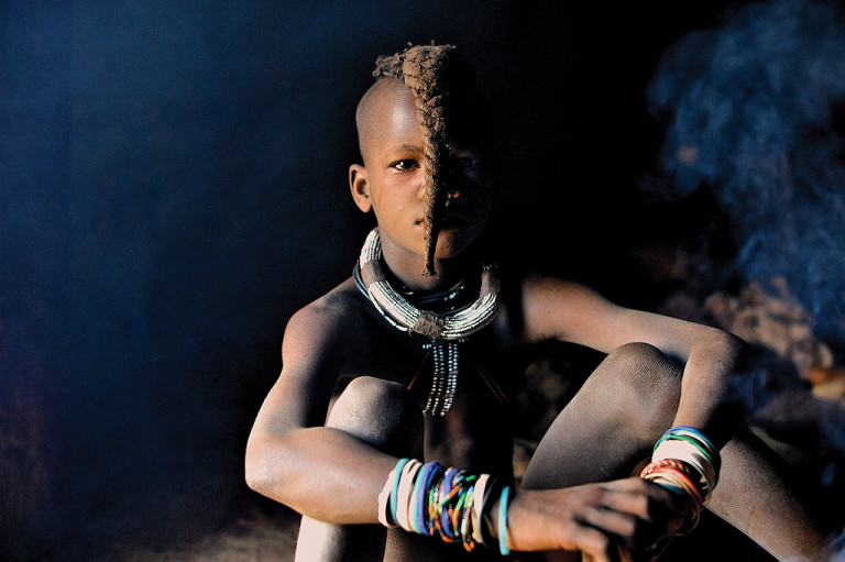 Himba Child in the Hut