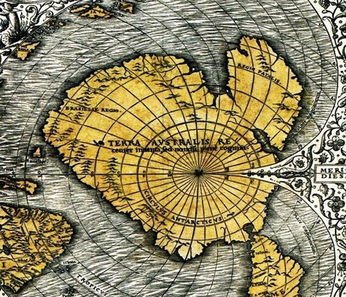 Oronteus Finaeus ice free antarctica yzkrnd