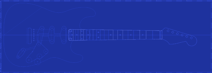 Stratocaster Plan and Template