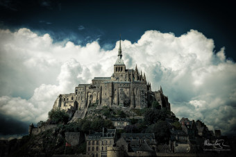 Mont St Michel from the Land Bridge