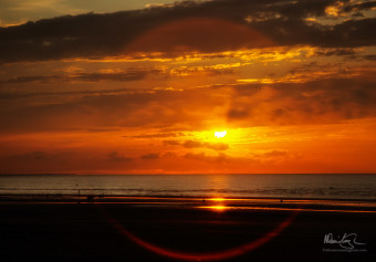 Sunset over Cabourg