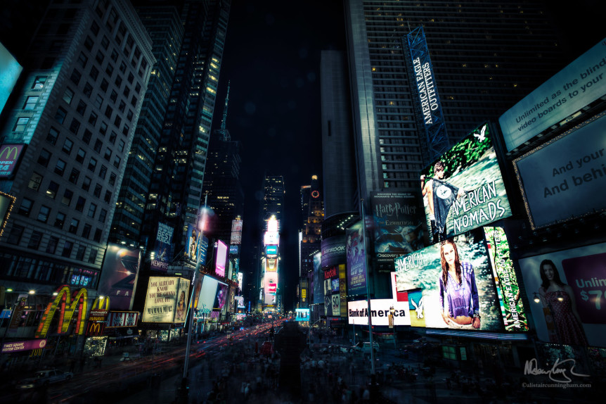 Cyberpunk in Time Square
