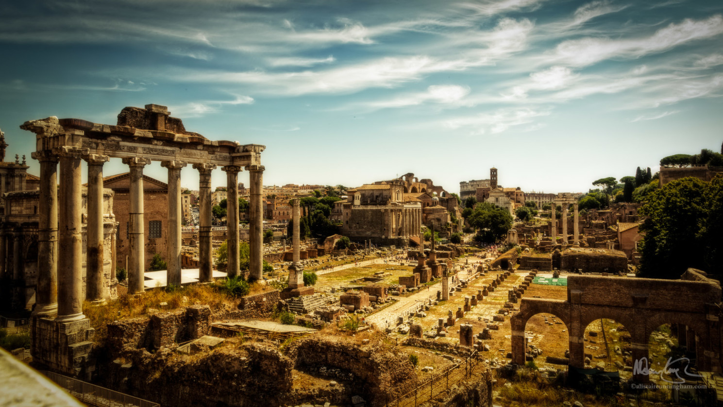 The Golden Roman Forum
