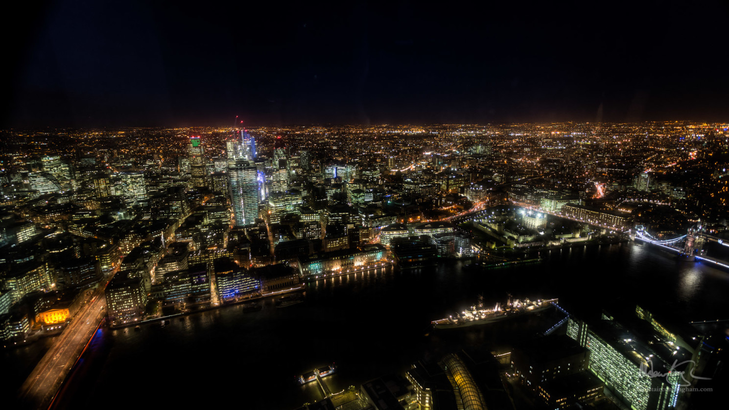 The View from The Shard, Looking North