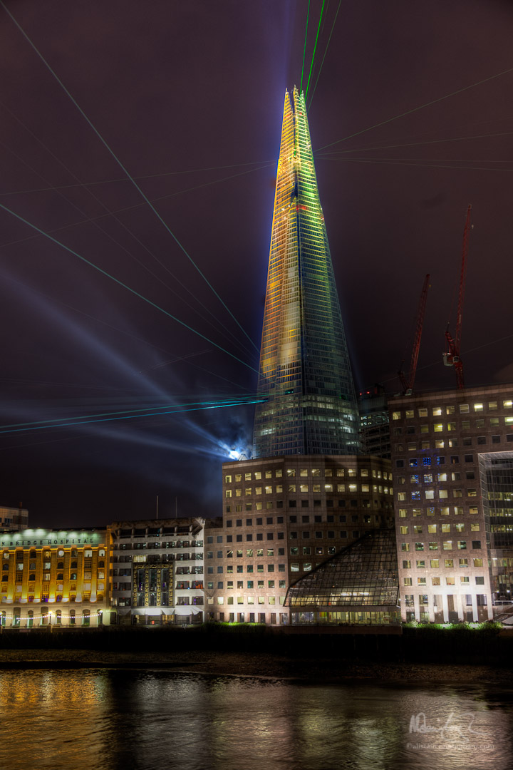 The opening of the Shard