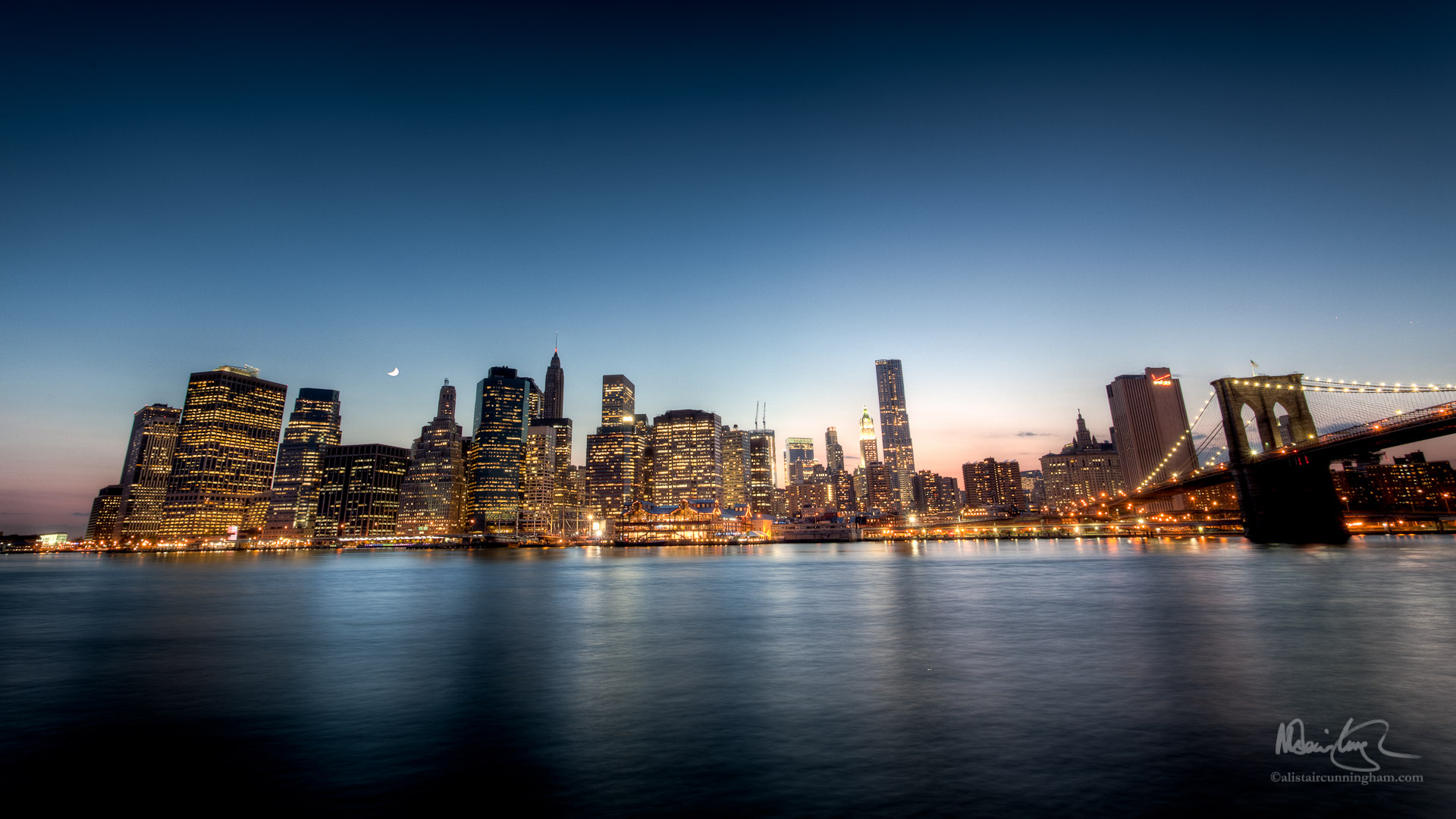 HDR Photograph of the Manhattan skyline