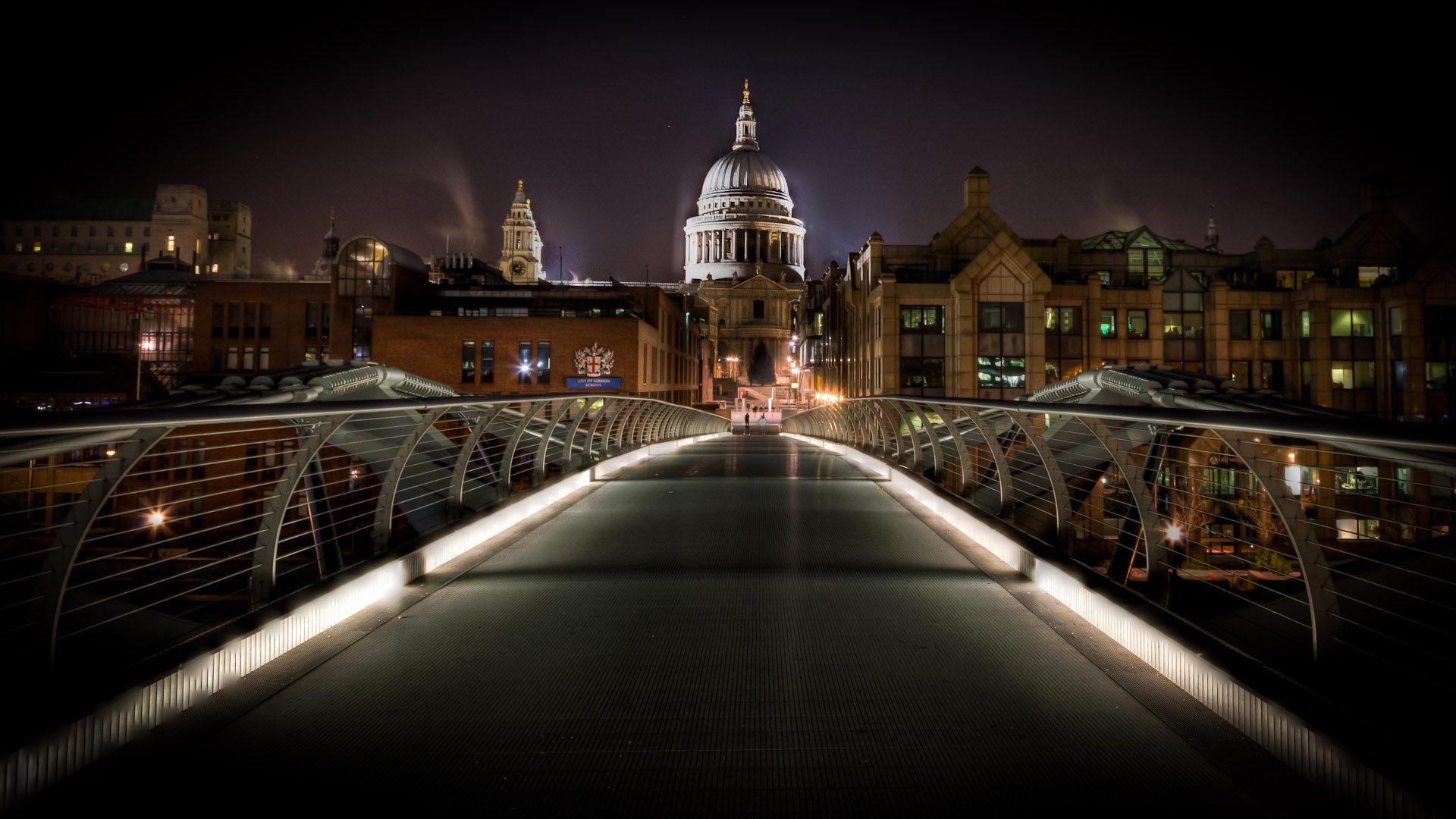 St Paul's by night from the millennium bridge
