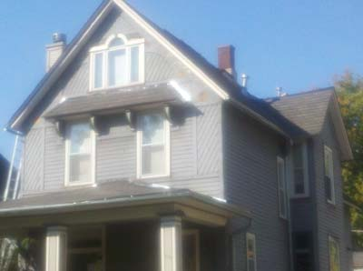 Allendorfer Roofing siding before work