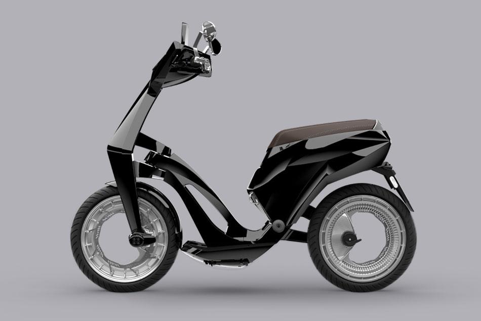 Ujet E-Scooter klappbar und mit Orbitalräder