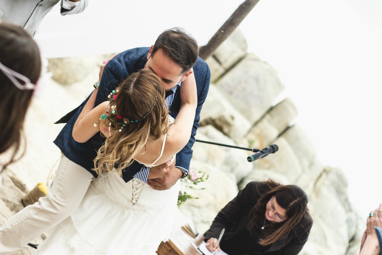 Primer beso de casados - Nico & Cristi - Café Chungungo, Maitencillo
