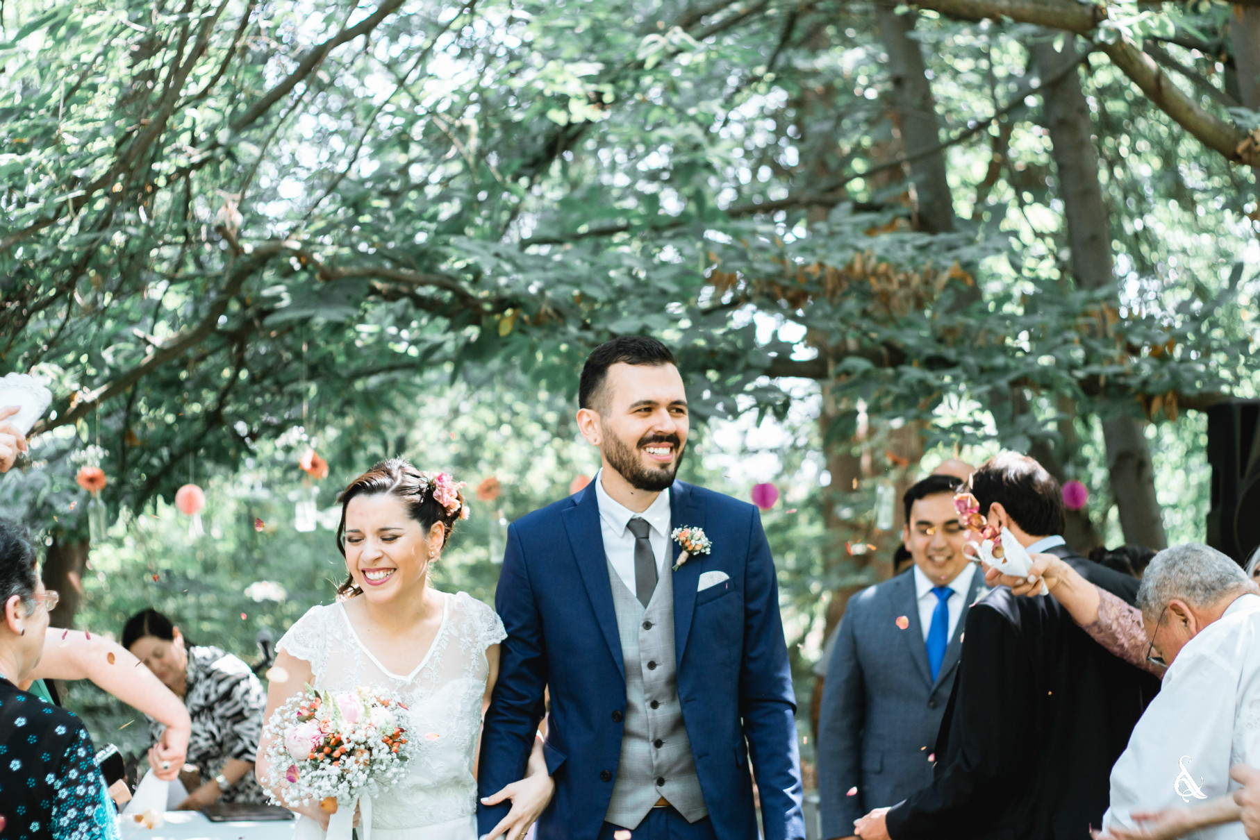 Caro y Jaime - Recién Casados - Matrimonio en Casa Ibarra