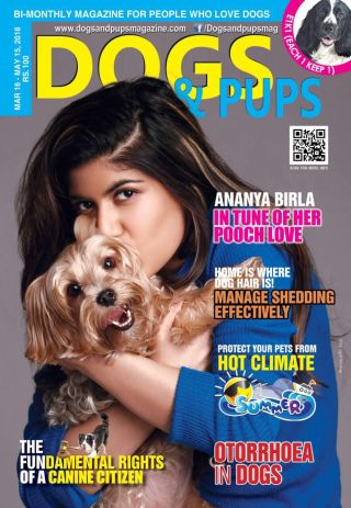 Ananya features on the cover of DOGS & PUPS