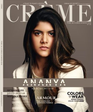 ANANYA FEATURES ON THE COVER OF CRÈME