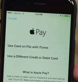 Setting up Apple Pay Screen on Iphone
