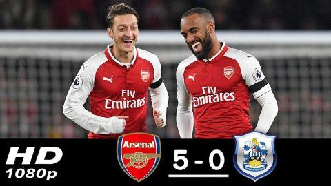 Arsenal vs Huddersfield 5-0 All Goals & Highlights 29/11/2017 HD