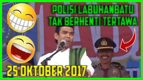 KOCAK..!!! Polisi Labuhanbatu Tak Berhenti Tertawa Saat Mendengarkan Ceramah Ustadz Abdul Somad