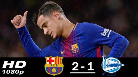 Barcelona vs Alaves 2-1 All Goals & Highlights 28/01/2018 HD