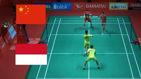 Kevin Sanjaya SUKAMULJO/ Marcus GIDEON vs LI Junhui/ LIU Yuchen - MD - Final Indonesia 2018