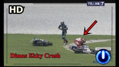 Menyedihkan, Dimas Ekky Crash Moto2 Malaysia 2017