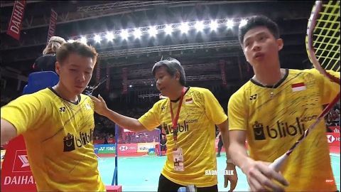 Kevin Sanjaya Sukamuljo Marcus Fernaldi Gideon vs Li Junhui Liu Yuchen Indonesian Masters 2018 Final