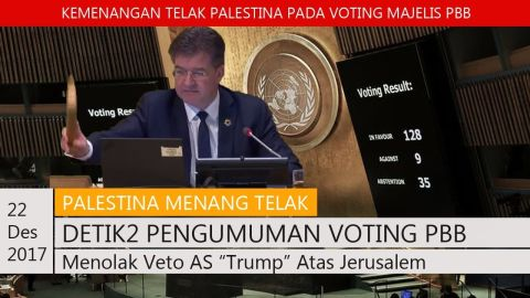 PALESTINA MENANG TELAK! DETIK-DETIK PENGUMUMAN VOTING PBB, MENOLAK VETO AS |TRUMP| ATAS YERUSALEM!