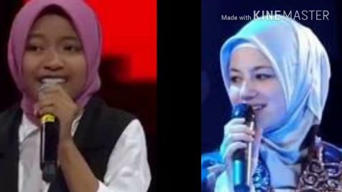 BAGUS MANA SHARLA  VOICE KIDS INDONESIA VS QASIDAH LUAR NEGRI