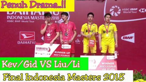 MENDEBARKAN.! FINAL Kevin Sanjaya / Gideon VS LIU Yuchen / Li Junhui Indonesia Masters 2018