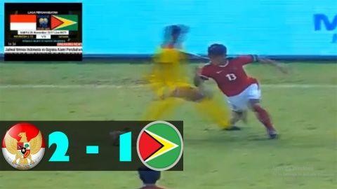 SKILL D3WA FEBRI HARYADI Dan 2 GOL Kemenangan SPASOJEVIC    INDONESIA Vs GUYANA (2-1)
