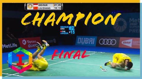 MENANG!! Full Match Final Kevin Sanjaya SUKAMULJO Marcus GIDEON vs ZHANG LIU Cheng DUBAI SSF 2017