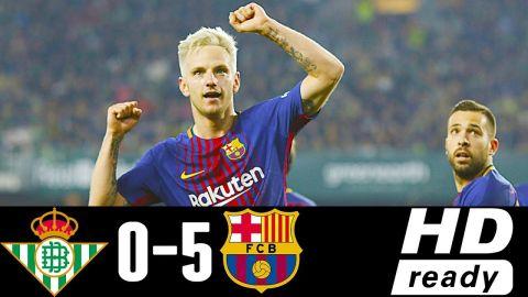 Real Betis Vs Barcelona 0-5 - All Goals & Highlights - Resumen y Goles 21/01/2018 HD