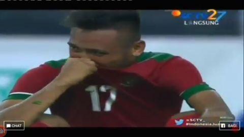 Tangisan Timnas Indonesia atas kekalahan melawan Malaysia 1-0