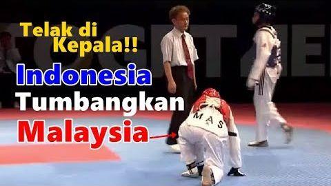 Atlet Indonesia Tendang TELAK vs Malaysia | Semifinal Taekwondo Sea Games 2017